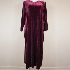 Marisa Studio Woman Dress Burgundy Velour Maxi
